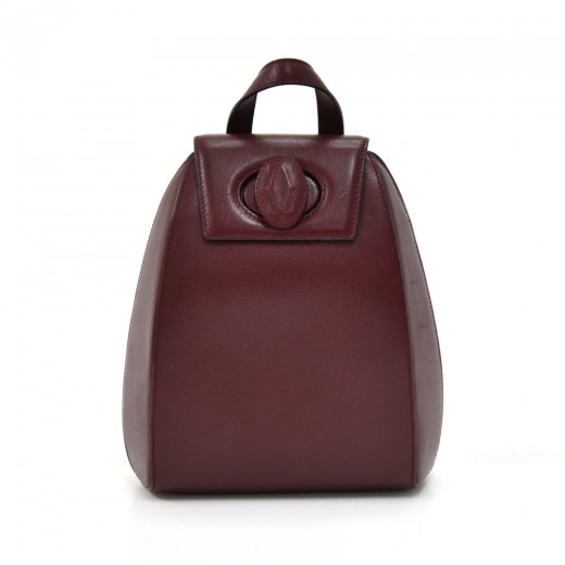 Vintage Cartier Burgundy Cowhide Leather Backpack ...