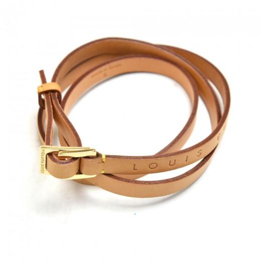 Vintage Louis Vuitton Cowhide Leather Thin Adjustable Waist Belt- Size S