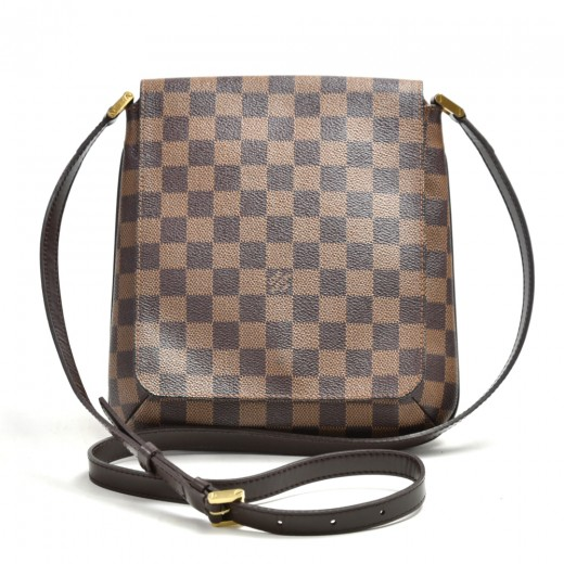 Louis Vuitton Musette Salsa Ebene Damier Canvas Cr...