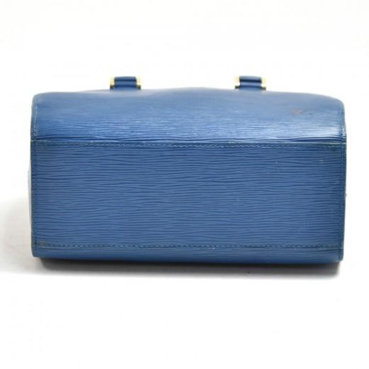Vintage Louis Vuitton Pont Neuf Blue Epi Leather Handbag