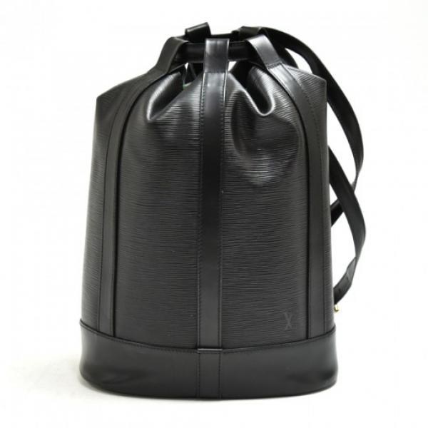 Vintage Louis Vuitton Randonee Black Epi Leather S...
