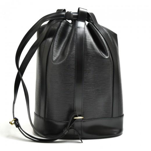 Vintage Louis Vuitton Randonee Black Epi Leather Shoulder Bag