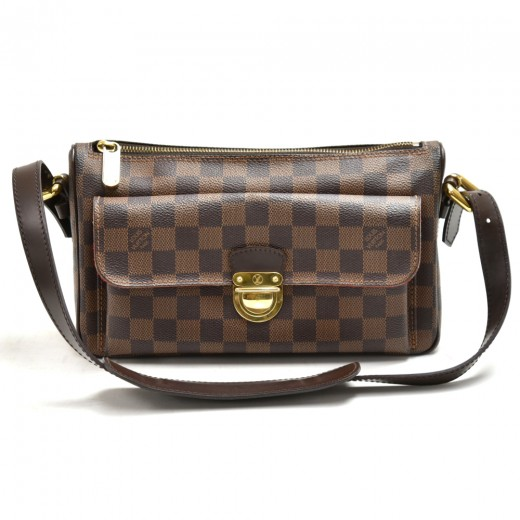 Louis Vuitton Ravello GM Ebene Damier Canvas Shoul...