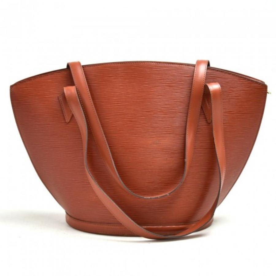 Vintage Louis Vuitton Saint Jacques GM Brown Epi Leather Shoulder Bag