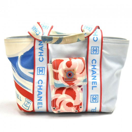 Chanel Sports Line Tricolor Blue/White/Red Canvas ...