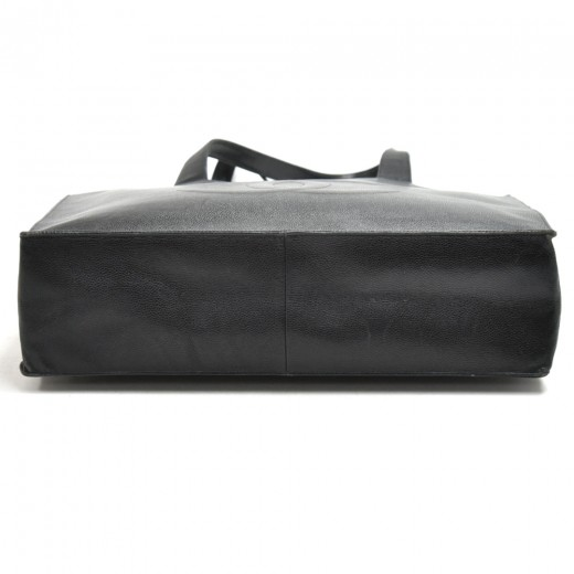 Vintage Chanel Jumbo XLarge Black Caviar Leather Tote Bag