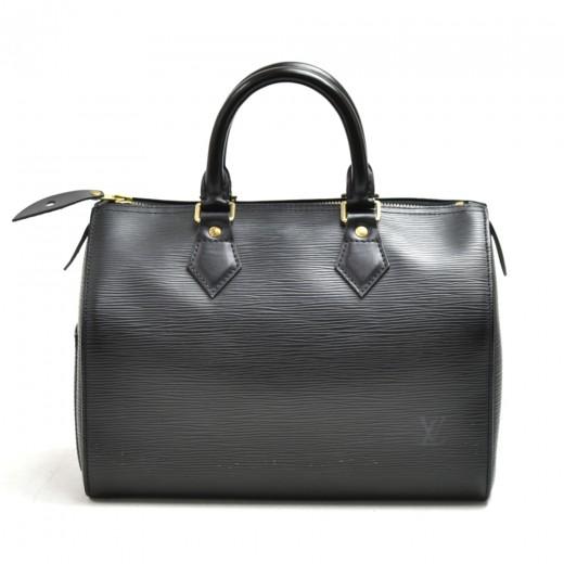 Vintage Louis Vuitton Speedy 25 Black Epi Leather City Handbag