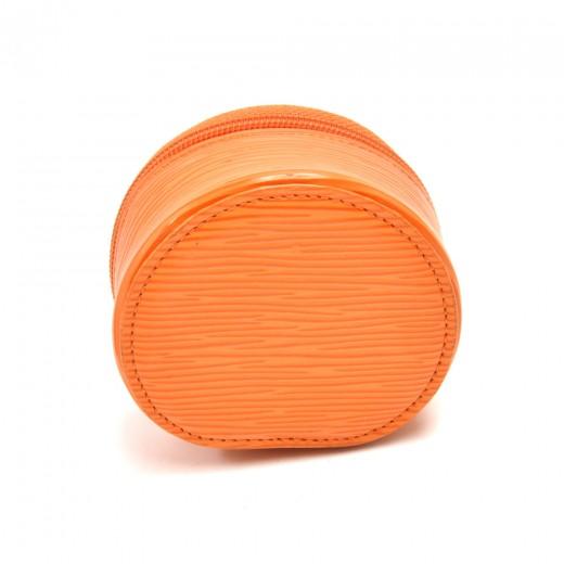 Louis Vuitton Ecrin Bijoux Orange Epi Leather Mini Jewelry Case