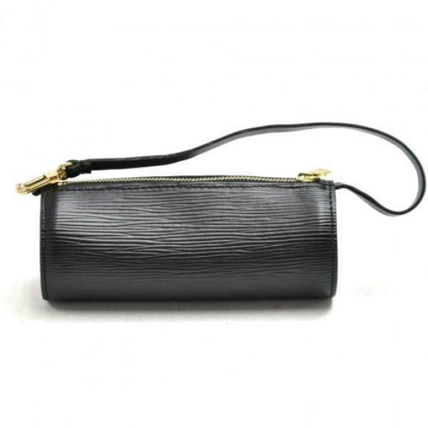 Louis Vuitton Pochette Papillon Black Epi Leather ...