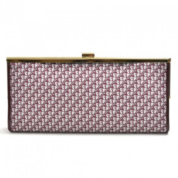 Christian Dior Logo Monogram Burgundy Jacquard Fab...