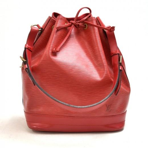 Vintage Louis Vuitton Noe Large Red Epi Leather Sh...