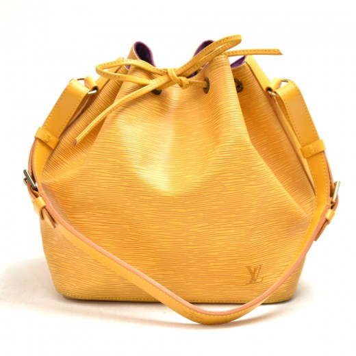 Vintage Louis Vuitton Petit Noe Yellow Epi Leather...