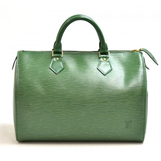 Vintage Louis Vuitton Speedy 30 Green Epi Leather ...