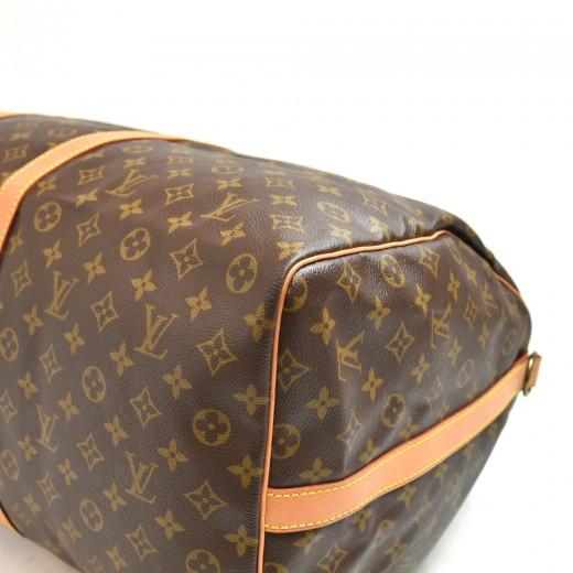 Vintage Louis Vuitton Keepall 60 Bandouliere Monogram Canvas Duffel Travel Bag