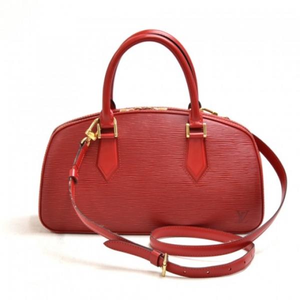 Vintage Louis Vuitton Jasmin Red Epi Leather Handb...