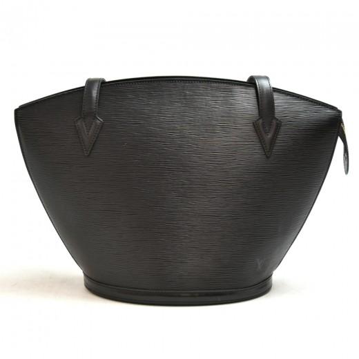 Vintage Louis Vuitton Saint Jacques GM Black Epi Leather Shoulder Bag