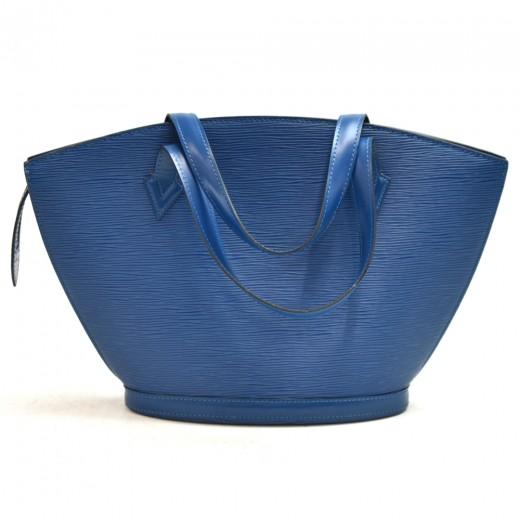 Vintage Louis Vuitton Saint Jacques PM Blue Epi Leather Handbag