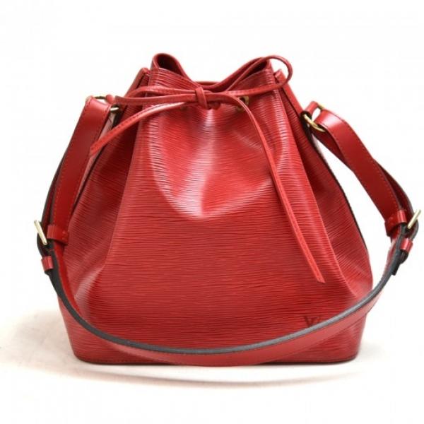 Vintage Louis Vuitton Petit Noe Red Epi Leather Sh...