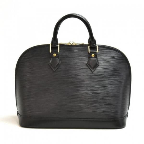 Vintage Louis Vuitton Alma Black Epi Leather Handb...