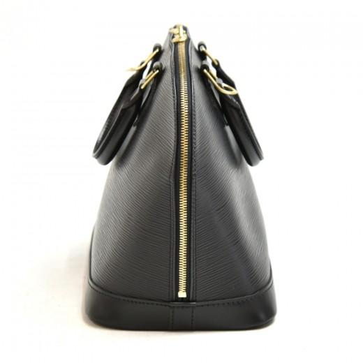 Vintage Louis Vuitton Alma Black Epi Leather Handbag