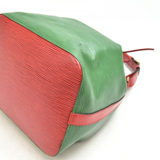 Vintage Louis Vuitton Petit Noe Bicolor Green & Red Epi Leather Shoulder Bag