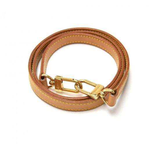 Louis Vuitton Brown Cowhide Leather Shoulder Strap...