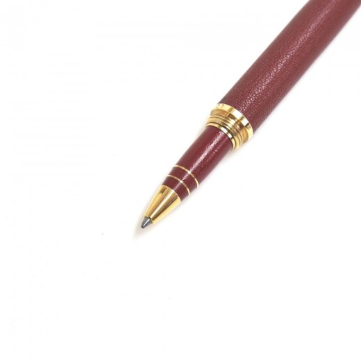 Louis Vuitton Doc Cuir Red Goatskin Leather & Gold Plated Rollerball Ballpoint Pen