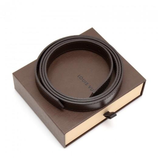Louis Vuitton Dark Brown Detachable Leather Strap ...