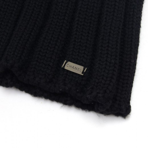 Vintage Chanel Black Wool Sweater Size38  Autumn1999 Collection