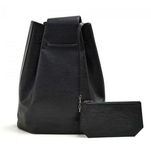 Vintage Louis Vuitton Sac A Dos Black Epi Leather ...