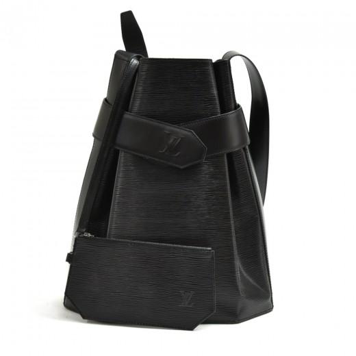Vintage Louis Vuitton Sac Depaule GM Black Epi Lea...