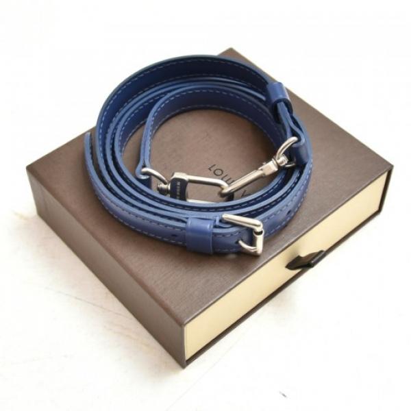 Louis Vuitton Blue Adjustable Leather Shoulder Str...