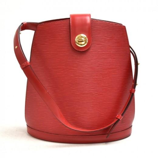 Vintage Louis Vuitton Cluny Red Epi Leather Should...