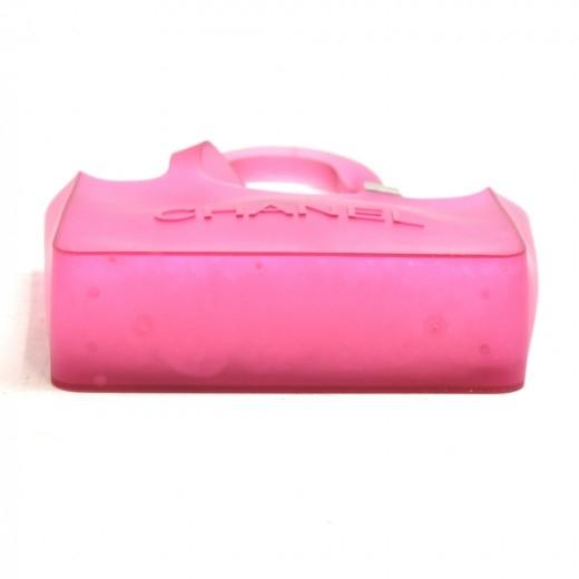 Chanel Pink Jelly Rubber Shoulder Tote Bag