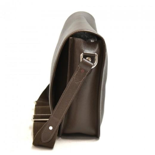 Louis Vuitton Andrei Dark Brown Taiga Leather Messenger Bag