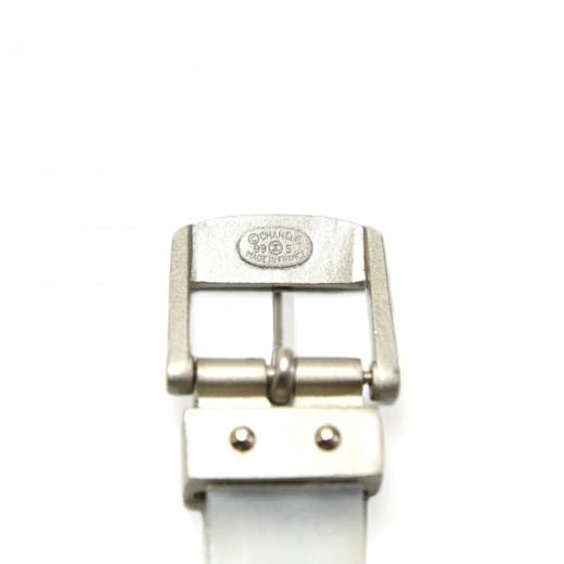 Vintage Chanel Transparent CHANEL Stencil Cutout Rubber Bracelet