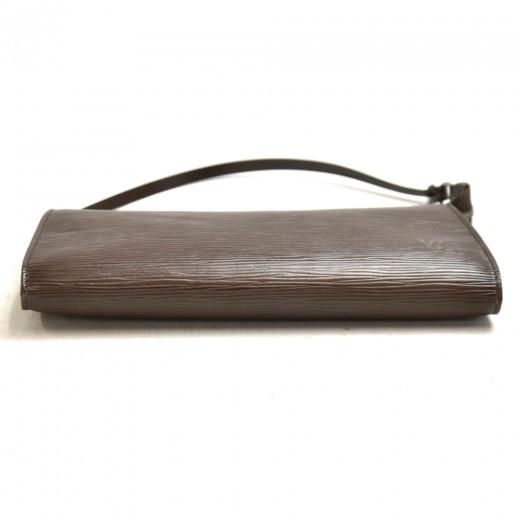 Louis Vuitton Pochette Accessories Brown Moca Epi Leather Hand Bag
