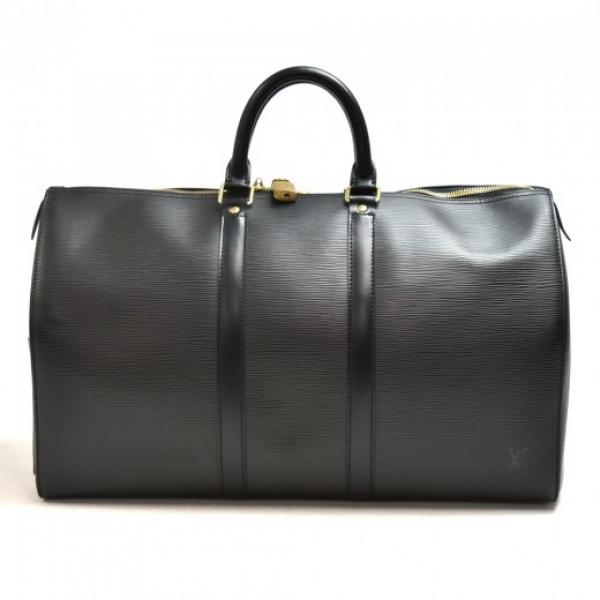 Vintage Louis Vuitton Keepall 45 Black Epi Leather...