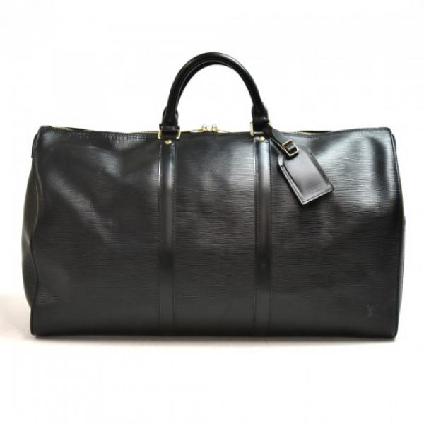 Vintage Louis Vuitton Keepall 55 Black Epi Leather...