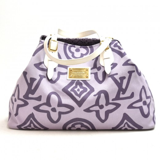 Louis Vuitton Tahitienne Cabas GM Lilac Tote Bag -...