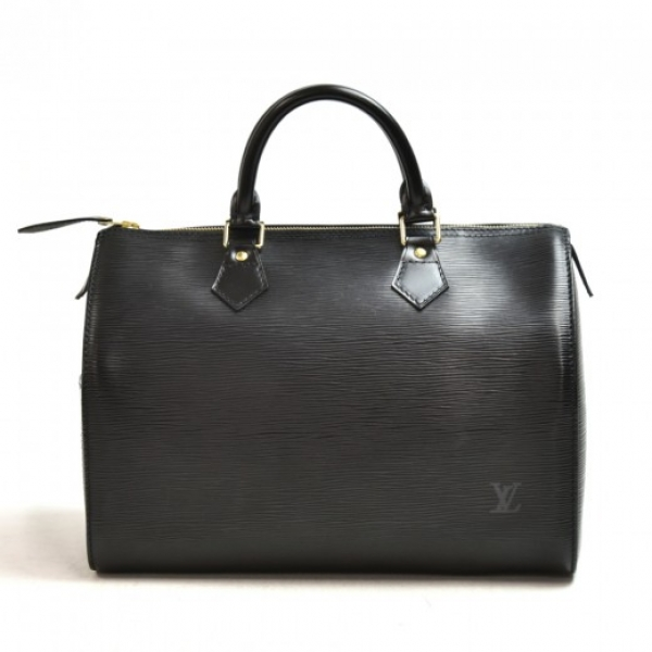 Vintage Louis Vuitton Speedy 30 Black Epi Leather ...