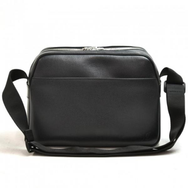 Vintage Louis Vuitton Reporter PM Black Taiga Leat...