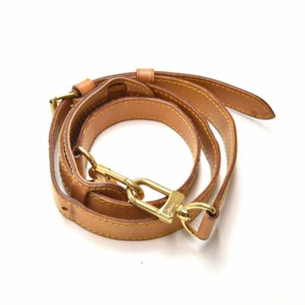 Louis Vuitton Brown Cowhide Leather Adjustable Sho...